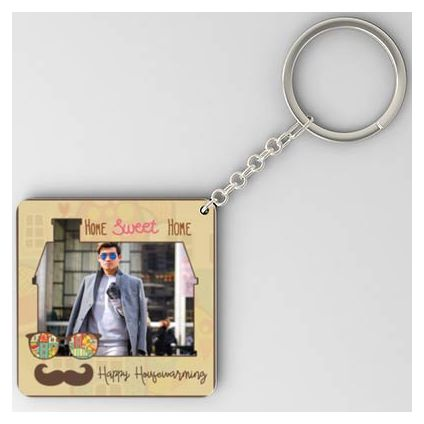 Square Shaped Father's day Key Chain