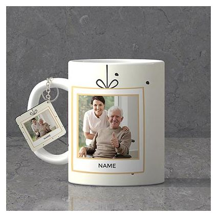 Delightful Personalized Birthday Keychain & Mug combo