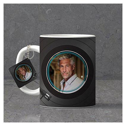 Fabulous Father Personalized Birthday Keychain & Mug combo