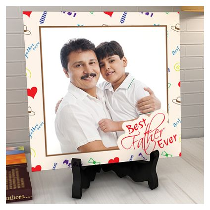 Best Father Ever Personalized Tile