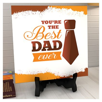 Unique Personalized Table Tile for Dad