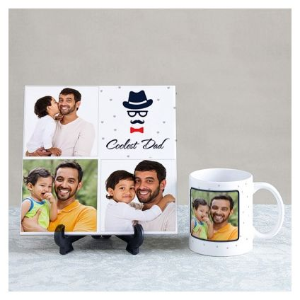 Coolest Dad Personalized Tile & Mug