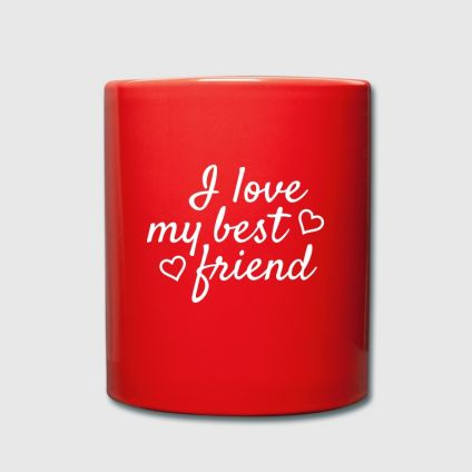 For a nice friend red mug