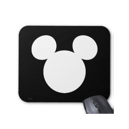 White micky icon mouse pad