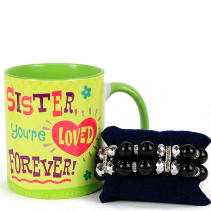 Sister Loved Forever Rakhi Gift Set