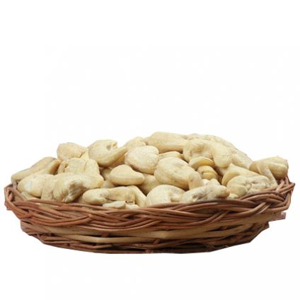 Cane Basket Cashews Nuts