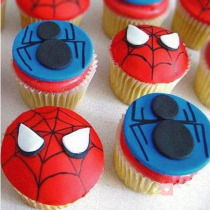 Meet the Spiderman Cup Cake