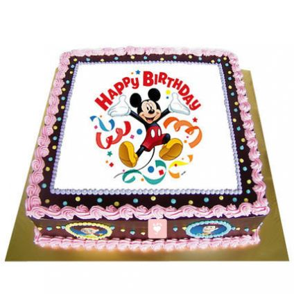 Special Mickey Mouse Photo Cake
