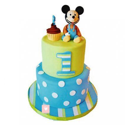 Cute Mickey Mouse Cartoon Cake