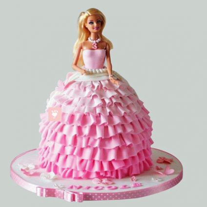 Pink Dress Barbie Cake