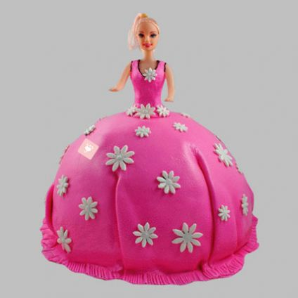 Pink Delight Barbie Cake