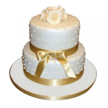 2 Tier cake For Golden Anniversary