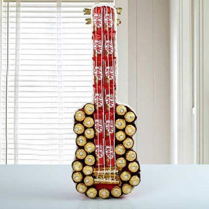 Mixed Chocolate Guitar
