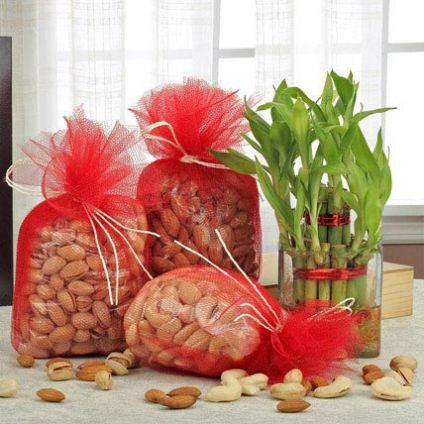 dry fruits n lucky bamboo