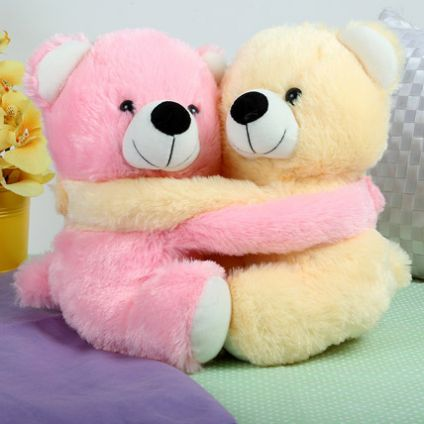 1 Pink and Yellow Teddy Bear