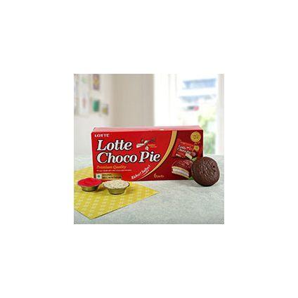 Lotte Choco Pie with Roli Chawal