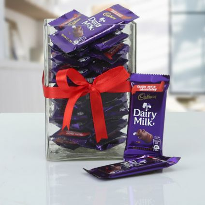 Dairy milk chocolate vase