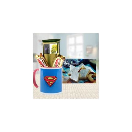 Super Hamper ? Mug, Kaaju Barfi, Chocolates