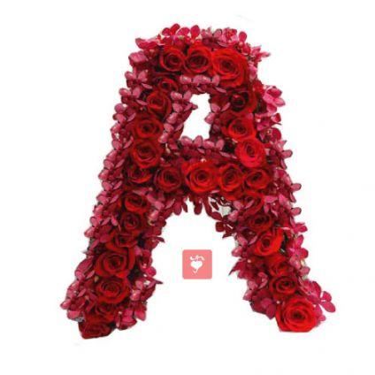 Personalized Alphabetic Flower Arrangement