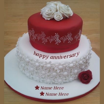 red and white anniversary wishes