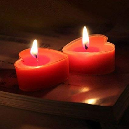 Heart Tealight Candles