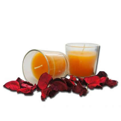 Orange Glass Candles
