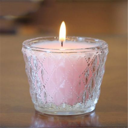 Glass decorative candles 2 PCS
