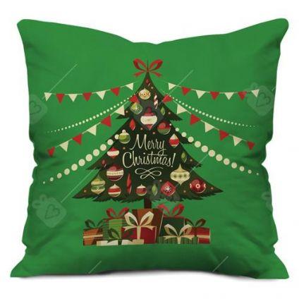 Christmas tree cushion