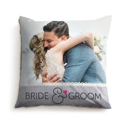Bride & groom cushion