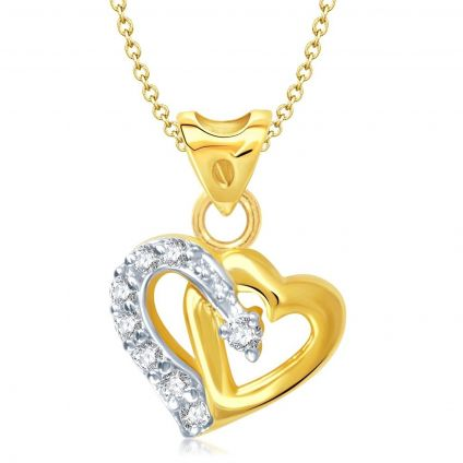 Gold And Rhodium Plated Pendant Necklace