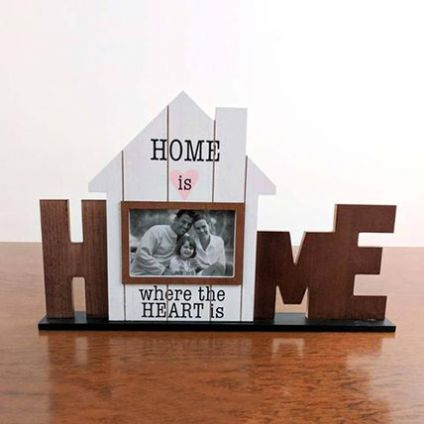 Wooden Home Photo Frame