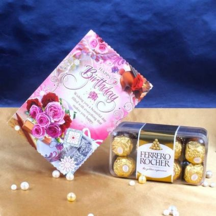Ferrero rocher with card
