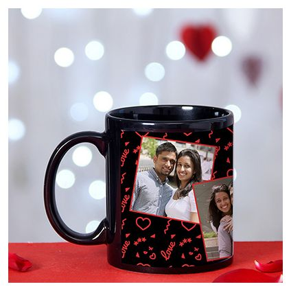 Romantic collage personalize mug