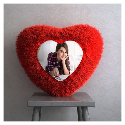 Personalized heart shape cushion