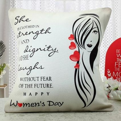 Women's day special cushion
