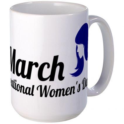 Beautiful mug for women's day