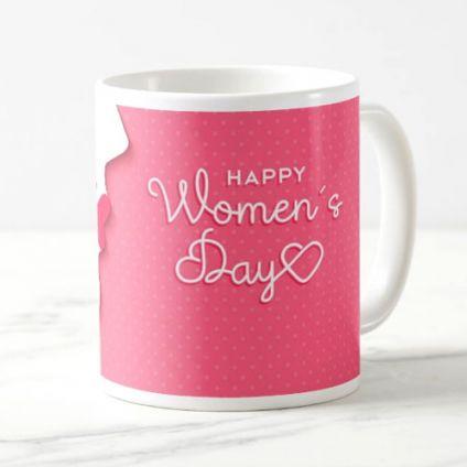 Pink printed designer mug