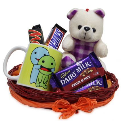 Best Combo of Mug chocolates & Teddy