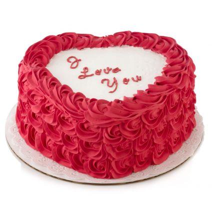 Love you flower cake
