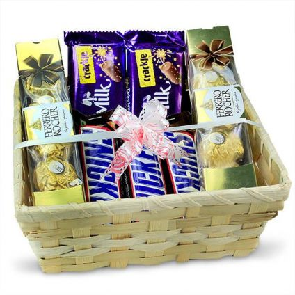 Basket Of Mixed Chocolates
