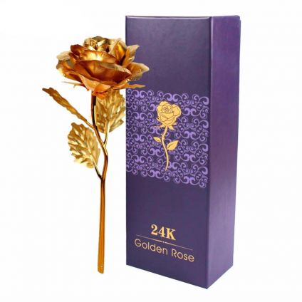 Golden Roses With Box