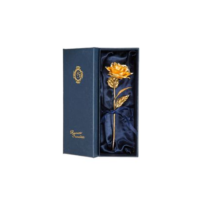 6 Inch Golden Roses With Box