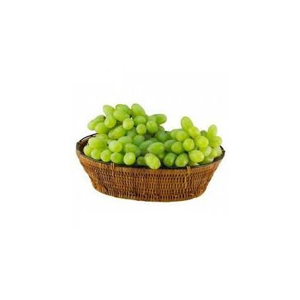 Green Grapes with basket