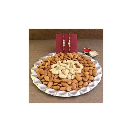 Almond with Cashew and 2 Sets of Rakhi