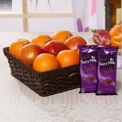 Fresh Fruits With Dairy Milk Silk