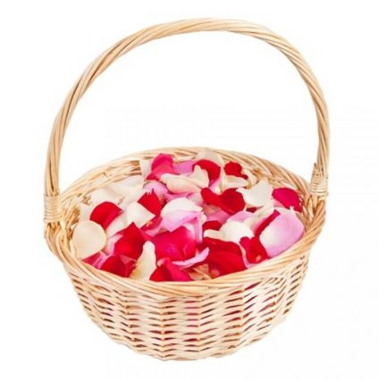 Basket With Mixed Petals