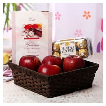 Apple With Ferrero Rocher