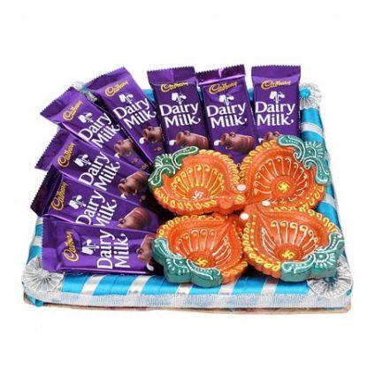 Chocolates With Diyas
