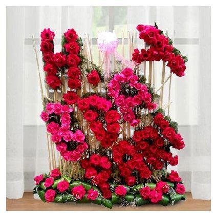 Personalized Flowers Arrangement