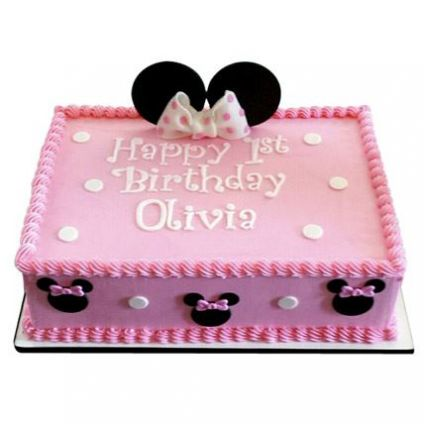 Pinky Square Shape Cake